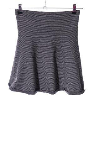 Zara Knit Stretchrock hellgrau Casual-Look