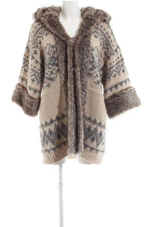 Zara Knit Strick Cardigan abstraktes Muster Casual-Look