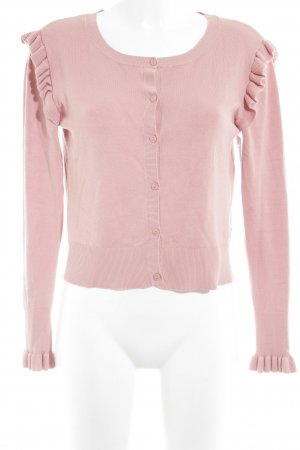 Zara Knit Strick Cardigan altrosa-rosa Casual-Look