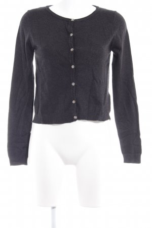 Zara Knit Strick Cardigan anthrazit Elegant