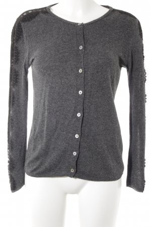 Zara Knit Strick Cardigan anthrazit-schwarz Street-Fashion-Look