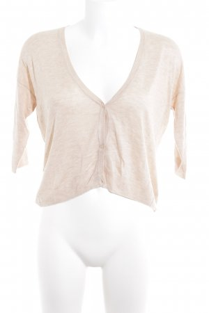 Zara Knit Strick Cardigan beige Casual-Look