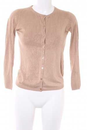 Zara Knit Strick Cardigan camel Casual-Look