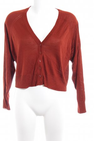 Zara Knit Strick Cardigan cognac Casual-Look