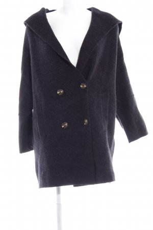 Zara Knit Strick Cardigan dunkelblau Casual-Look