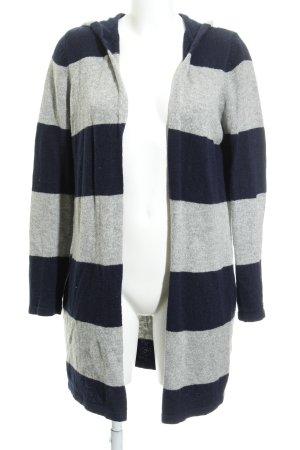 Zara Knit Strick Cardigan dunkelblau-hellgrau Casual-Look