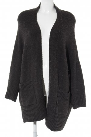 Zara Knit Strick Cardigan dunkelgrau Casual-Look
