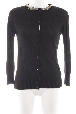 Zara Knit Knitted Cardigan black classic style