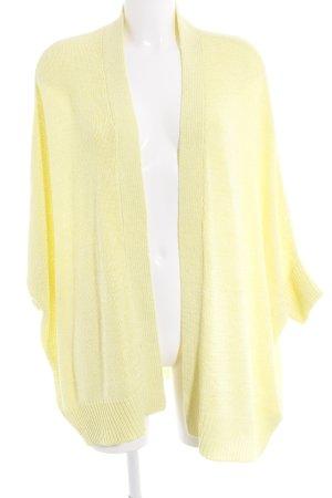 Zara Knit Strick Cardigan gelb Casual-Look