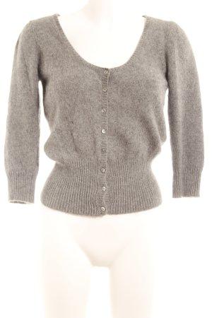 Zara Knit Strick Cardigan grau Casual-Look
