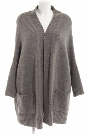 Zara Knit Strick Cardigan grau Casual-Look