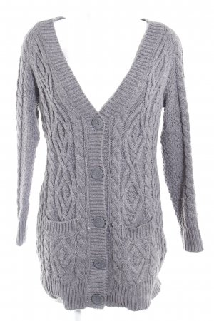 Zara Knit Strick Cardigan grau Kuschel-Optik
