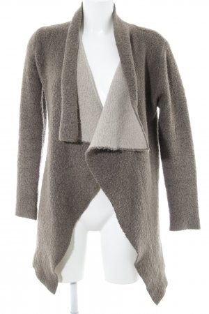 Zara Knit Strick Cardigan graubraun Kuschel-Optik