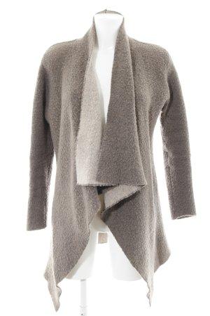 Zara Knit Strick Cardigan graubraun Kuschel-Optik
