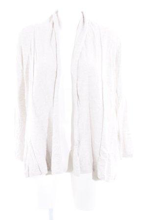 Zara Knit Strick Cardigan hellbeige Casual-Look