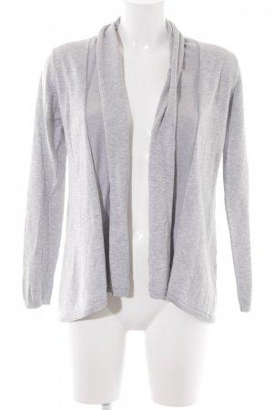Zara Knit Strick Cardigan hellgrau Casual-Look