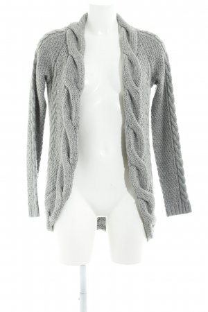 Zara Knit Strick Cardigan hellgrau Casual-Look