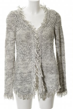 Zara Knit Knitted Cardigan light grey-white flecked casual look