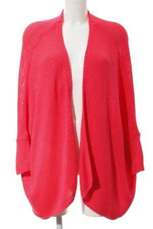 Zara Knit Strick Cardigan magenta Casual-Look