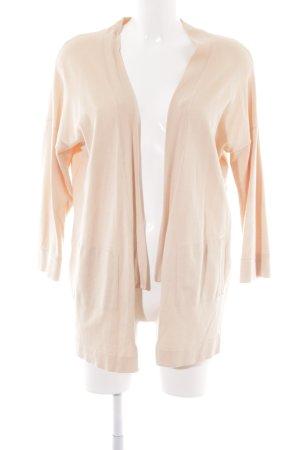 Zara Knit Strick Cardigan nude Casual-Look