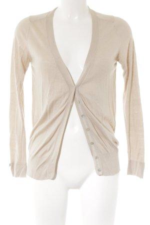 Zara Knit Strick Cardigan nude-hellbeige schlichter Stil