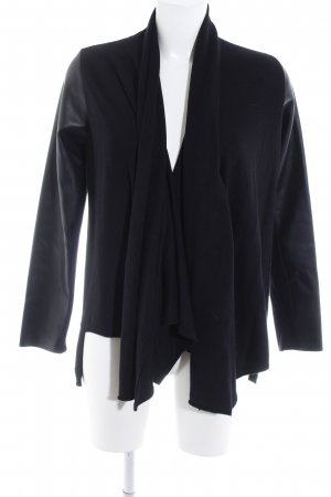 Zara Knit Strick Cardigan schwarz Casual-Look