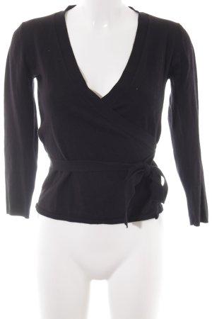 Zara Knit Strick Cardigan schwarz Elegant