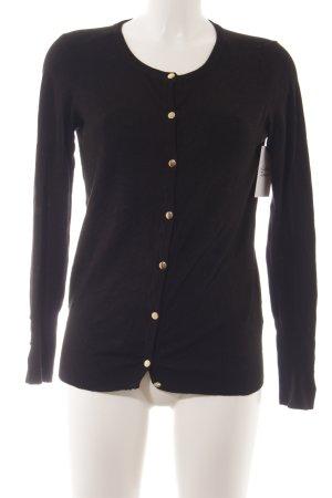 Zara Knit Strick Cardigan schwarz klassischer Stil