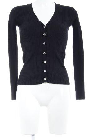Zara Knit Strick Cardigan schwarz minimalistischer Stil