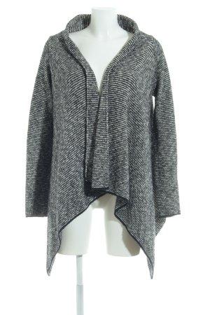 Zara Knit Strick Cardigan schwarz-weiß Webmuster Casual-Look