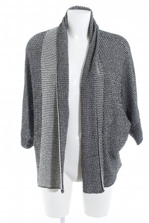 Zara Knit Strick Cardigan schwarz-wollweiß Casual-Look