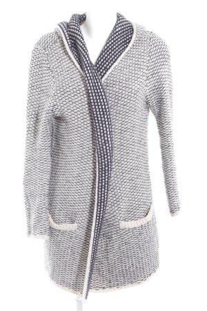 Zara Knit Strick Cardigan schwarz-wollweiß Kuschel-Optik
