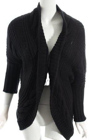 Zara Knit Gebreide cardigan zwart kabel steek casual uitstraling