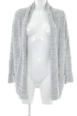 Zara Knit Strick Cardigan wollweiß-schwarz Casual-Look