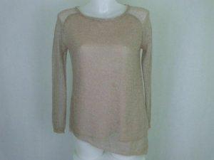 Zara Knit Jersey de lana beige claro mohair