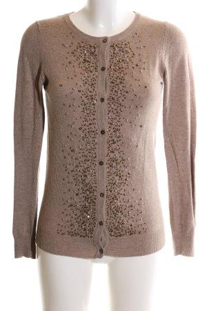 Zara Knit Strickjacke braun meliert Elegant