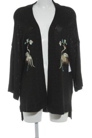 Zara Knit Strickjacke Animalmuster Street-Fashion-Look