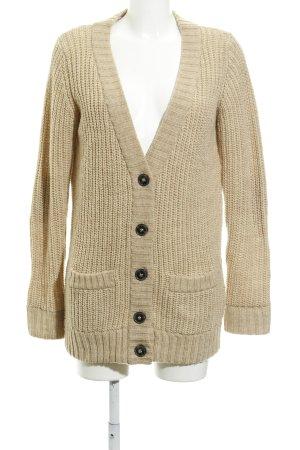 Zara Knit Strickjacke beige Casual-Look