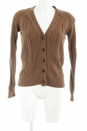 Zara Knit Strickjacke braun Casual-Look