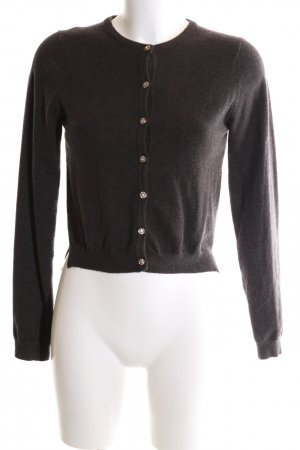 Zara Knit Strickjacke braun Casual-Look