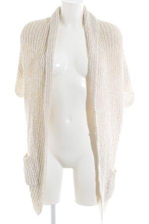 Zara Knit Strickjacke creme Casual-Look