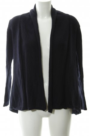 Zara Knit Strickjacke dunkelblau Casual-Look