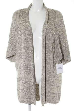 Zara Knit Strickjacke grau-creme Casual-Look