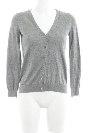 Zara Knit Strickjacke grau Webmuster Casual-Look