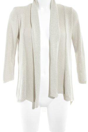Zara Knit Strickjacke hellbeige Casual-Look