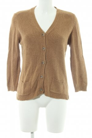 Zara Knit Strickjacke hellbraun Casual-Look