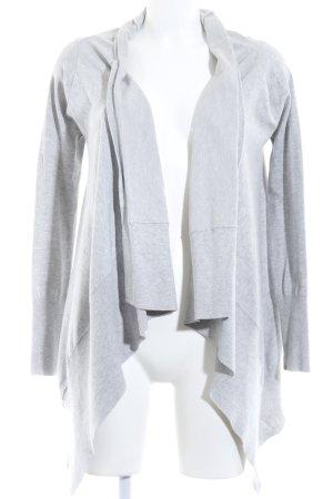Zara Knit Strickjacke hellgrau meliert Casual-Look