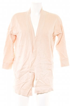 Zara Knit Strickjacke nude Casual-Look