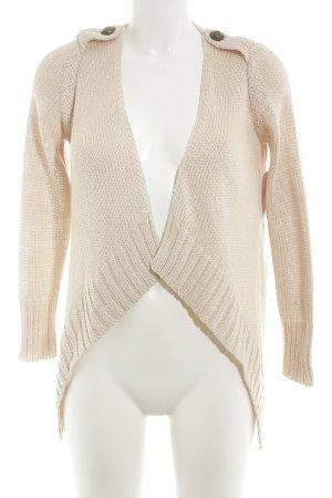 Zara Knit Strickjacke rosé Casual-Look