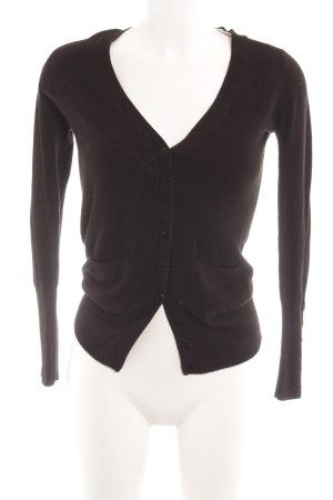 Zara Knit Strickjacke schwarz Casual-Look
